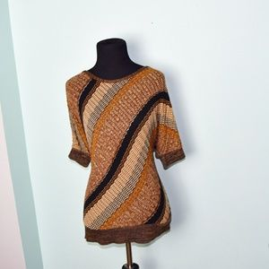Super Cute Brown and Hazel Striped Blouse